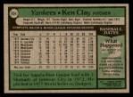 1979 Topps #434  Ken Clay  Back Thumbnail