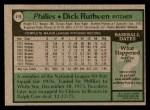 1979 Topps #419  Dick Ruthven  Back Thumbnail