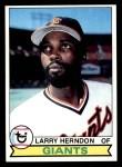 1979 Topps #624  Larry Herndon  Front Thumbnail