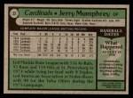 1979 Topps #32  Jerry Mumphrey  Back Thumbnail