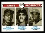 1979 Topps #721   -  Juan Berenguer / Dwight Bernard / Dan Norman Mets Prospects   Front Thumbnail