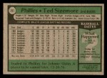 1979 Topps #297  Ted Sizemore  Back Thumbnail
