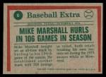 1975 Topps #6   -  Mike Marshall Marshall Hurls In 106 Games Back Thumbnail