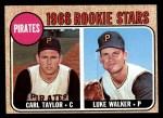 1968 Topps #559   -  Carl Taylor / Luke Walker Pirates Rookies Front Thumbnail