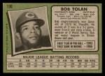1971 Topps #190  Bobby Tolan  Back Thumbnail