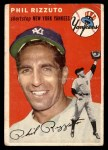 1954 Topps #17  Phil Rizzuto  Front Thumbnail