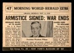 1954 Topps Scoop #47   Armistice Signed Back Thumbnail
