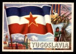 1956 Topps Flags of the World #63   Yugoslavia Front Thumbnail