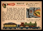 1955 Topps Rails & Sails #124   Monster Back Thumbnail
