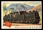 1955 Topps Rails & Sails #8   Electric Locomotive Front Thumbnail