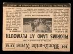 1954 Topps Scoop #104   Pilgrims Land At Plymouth Back Thumbnail