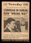 1954 Topps Scoop #131   Corrigan Flies Wrong Way Back Thumbnail