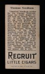 1912 T207 #138  Tom Needham    Back Thumbnail