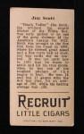 1912 T207  Jim Scott    Back Thumbnail