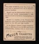 1910 T218 Champions #4  Walter Bursch  Back Thumbnail