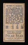 1911 T205 #141  Rube Oldring  Back Thumbnail