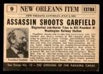 1954 Topps Scoop #9   Garfield Shot Back Thumbnail