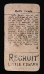 1912 T207 #104  Duffy Lewis    Back Thumbnail