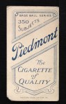 1909 T206  Jerry Freeman  Back Thumbnail
