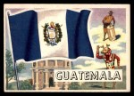1956 Topps Flags of the World #78   Guatemala Front Thumbnail
