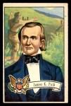 1956 Topps U.S. Presidents #14  James K. Polk  Front Thumbnail