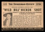 1954 Topps Scoop #122   Wild Bill Hickok Shot Back Thumbnail