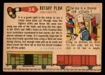 1955 Topps Rails & Sails #34   Rotary Snow Plow Back Thumbnail