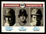 1979 Topps #713   -  Danny Darwin / Pat Putnam / Billy Sample Rangers Prospects   Front Thumbnail