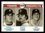 1979 Topps #706   -  Dave Stegman / Dave Tobik / Kip Young Tigers Prospects    Front Thumbnail