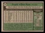 1979 Topps #368  Don Aase  Back Thumbnail