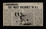 1964 Topps Giants #13  Nellie Fox   Back Thumbnail