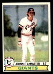 1979 Topps #284  Johnnie LeMaster  Front Thumbnail