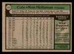 1979 Topps #522  Ken Holtzman  Back Thumbnail
