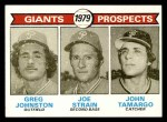 1979 Topps #726   -  Greg Johnston /Joe Strain / John Tamargo Giants Prospects   Front Thumbnail