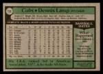 1979 Topps #153  Dennis Lamp  Back Thumbnail