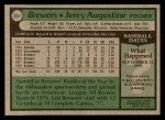 1979 Topps #357  Jerry Augustine  Back Thumbnail