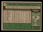 1979 Topps #618  Jerry Remy  Back Thumbnail