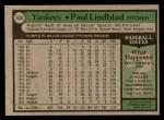 1979 Topps #634  Paul Lindblad  Back Thumbnail