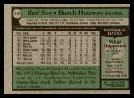 1979 Topps #270  Butch Hobson  Back Thumbnail