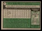 1979 Topps #681  John Henry Johnson  Back Thumbnail