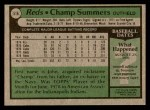 1979 Topps #516  Champ Summers  Back Thumbnail