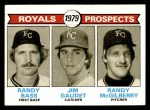 1979 Topps #707   -  Randy Bass / Jim Gaudet / Randy McGilberry Royals Prospects  Front Thumbnail