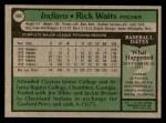 1979 Topps #484  Rick Waits  Back Thumbnail