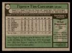 1979 Topps #272  Tim Corcoran  Back Thumbnail