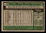 1979 Topps #148  Bruce Boisclair  Back Thumbnail