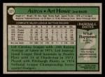 1979 Topps #327  Art Howe  Back Thumbnail