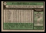 1979 Topps #54  Dell Alston  Back Thumbnail