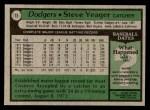 1979 Topps #75  Steve Yeager  Back Thumbnail
