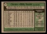 1979 Topps #237  Billy Smith  Back Thumbnail