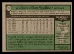 1979 Topps #359  Dan Spillner  Back Thumbnail